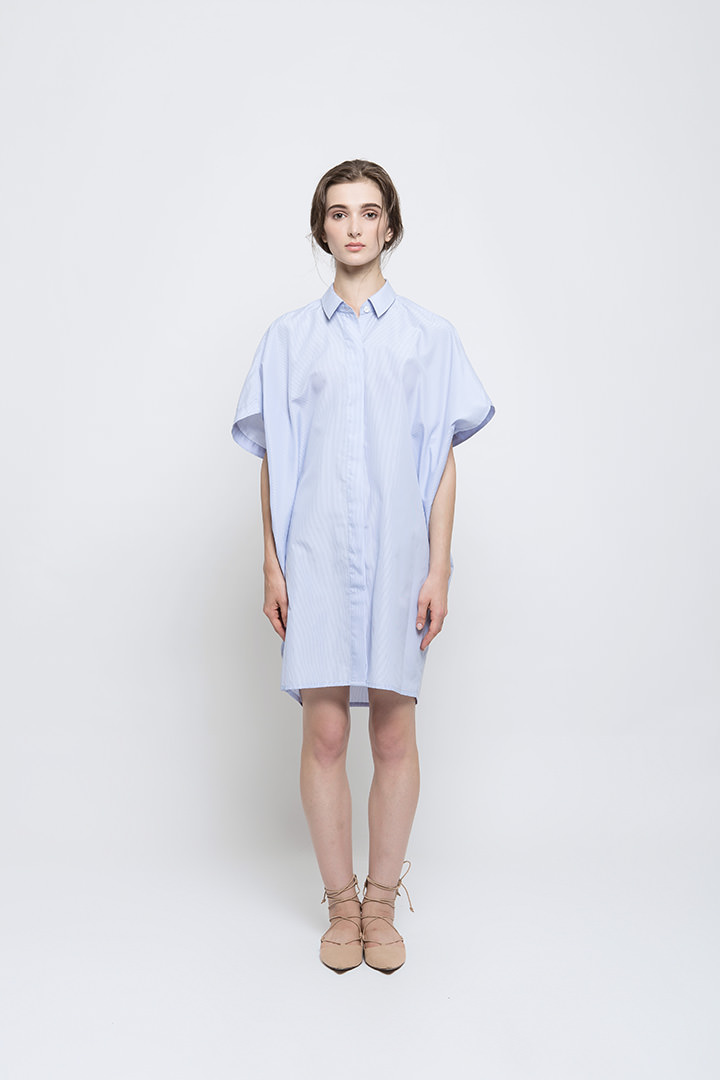 Blue Katsumi Shirt Dress