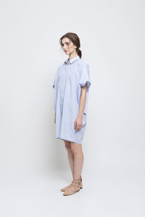 Blue Katsumi Shirt Dress
