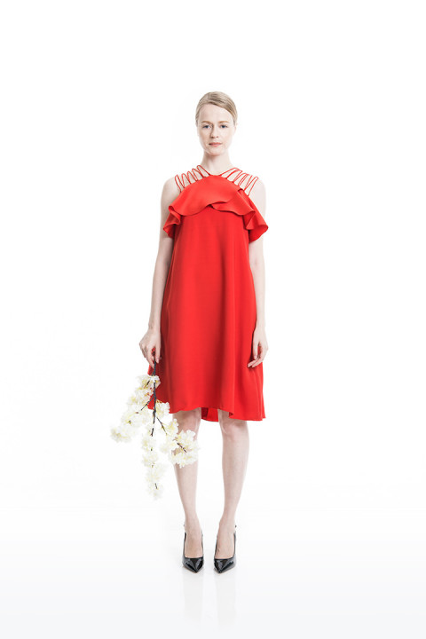 Red Opulento Dress