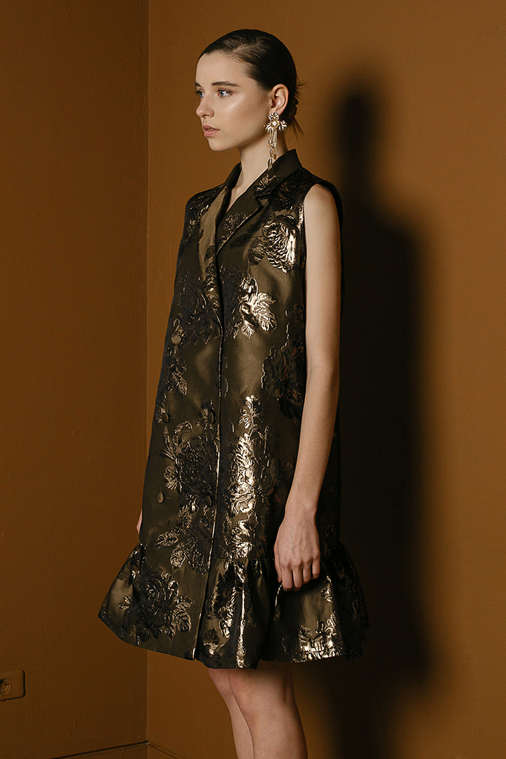 Golden Caven Dress