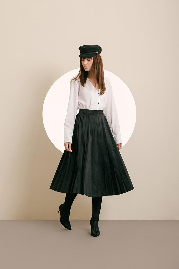 Black Genevieve Skirt