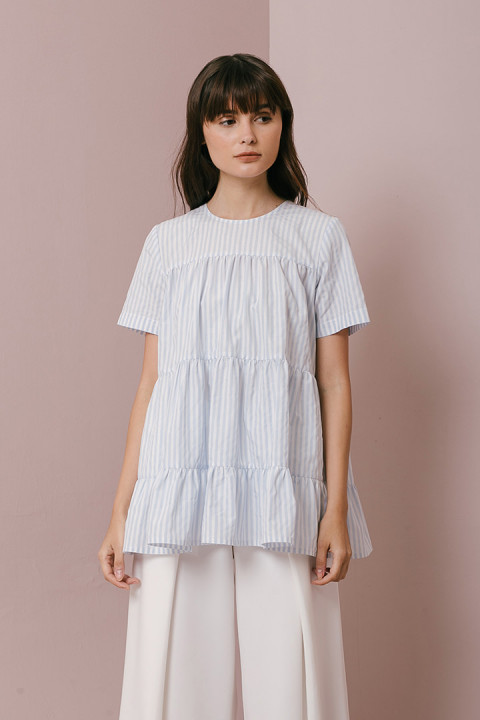 Light Blue Stripes Mika Top