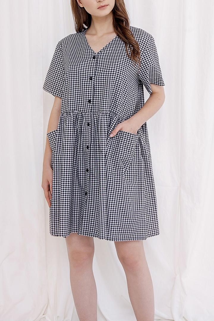 Gingham Patrice Dress