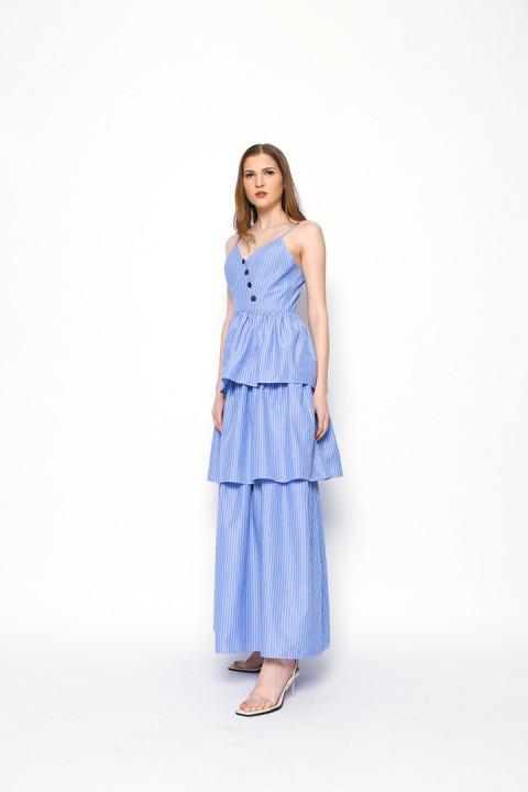 Blue Stripes Bonita Dress