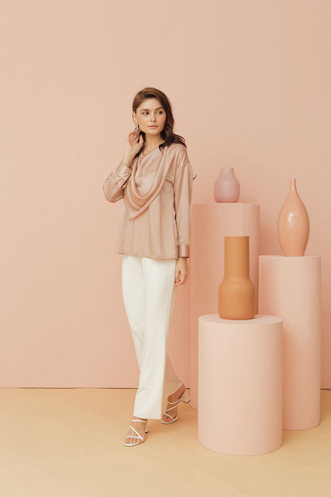 Dusty Pink Cadet Top