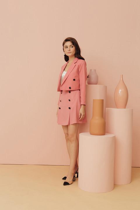 Coral Pink Jolie Jacket