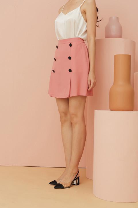 Coral Pink Suri Skirt