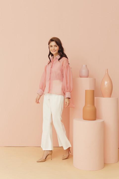 Blush Pink Rochet Top