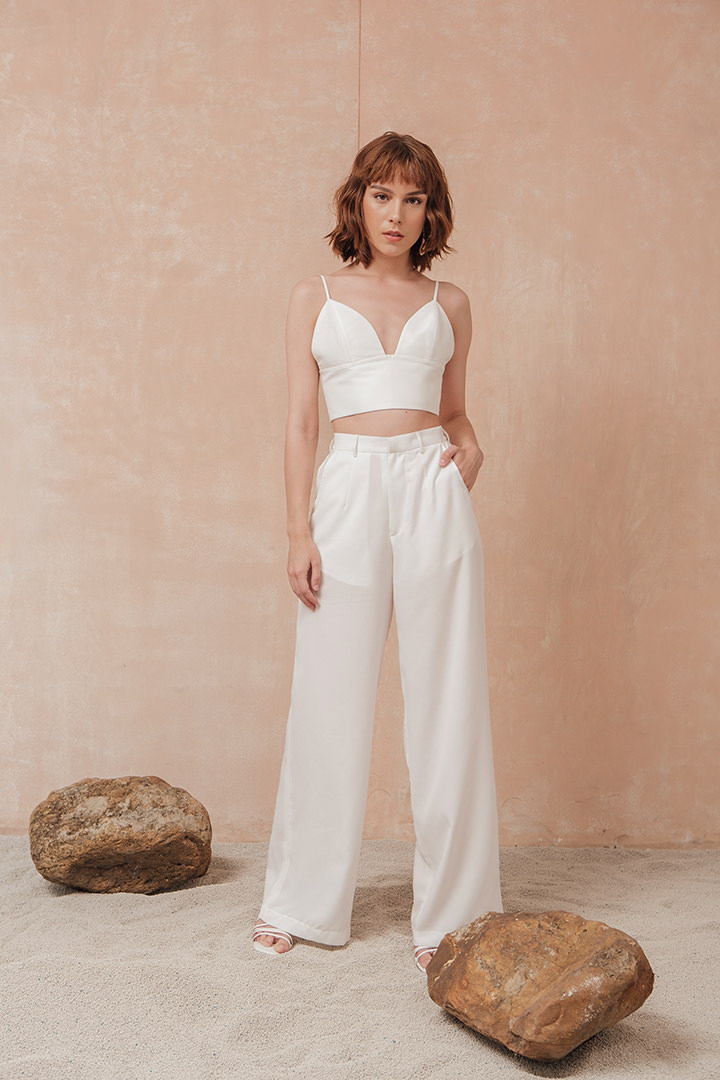 White Cellia Pants