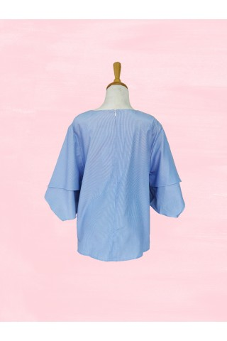 Blue Stripe Kamiko Top
