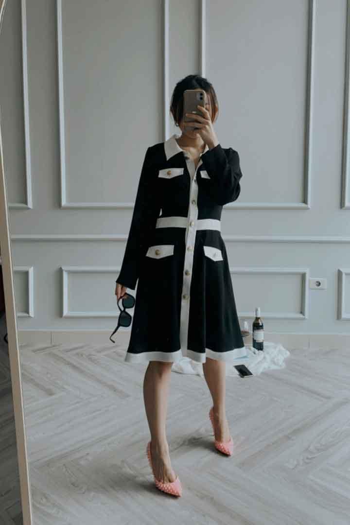 Black Cambon Dress